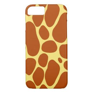 Coque iPhone 7 Jaune et motif de girafe de Brown