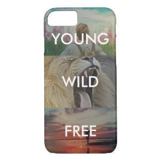 Coque iPhone 7 Jeune, sauvage et libre