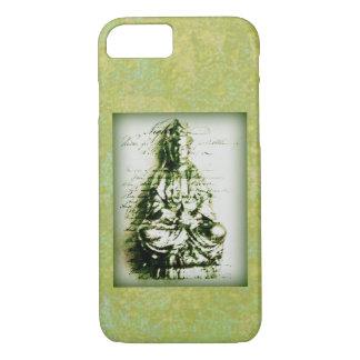 Coque iPhone 7 Kwan vert antique Yin