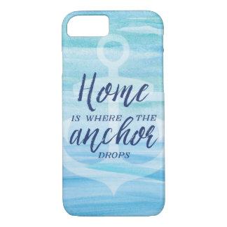Coque iPhone 7 La maison est où l'ancre se laisse tomber