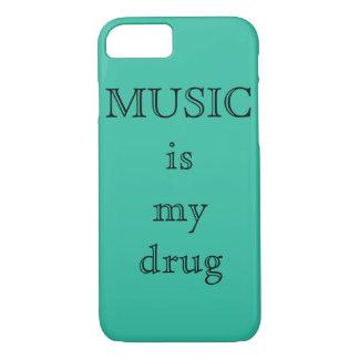 Coque iPhone 7 La musique est mon cas d'IPhone 7Plus de drogue