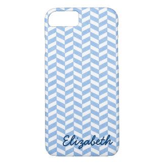 Coque iPhone 7 La plage blanche bleue en arête de poisson colore