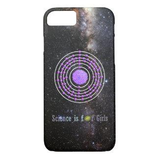 Coque iPhone 7 La Science d'atome de platine est pour des filles