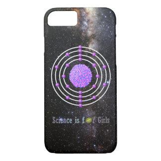 Coque iPhone 7 La Science titanique d'atome est pour des filles