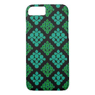 Coque iPhone 7 La turquoise verte part du motif de Rhomb