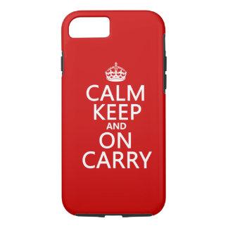 Coque iPhone 7 Le calme garde et sur Carry - toutes les couleurs