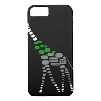 Coque iPhone 7 Le cas de téléphone de girafe indique 'déterminé à