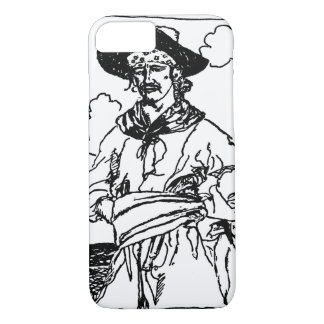Coque iPhone 7 Le cru pirate le croquis d'un capitaine par Howard