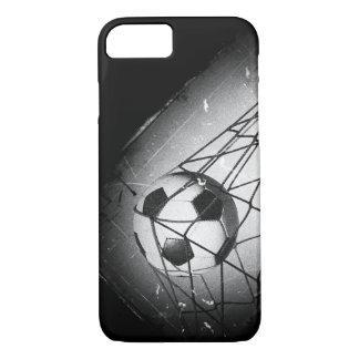 Coque iPhone 7 Le football grunge vintage frais dans le but