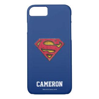 Coque iPhone 7 Le logo affligé par     de S-Bouclier de Superman