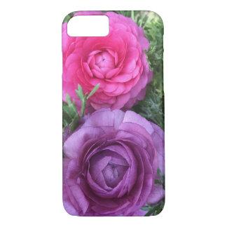 Coque iPhone 7 Le ranunculus assez floral, rose et pourpre