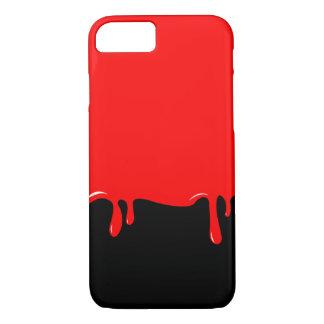 Coque iPhone 7 Le sang s'est égoutté la caisse de téléphone