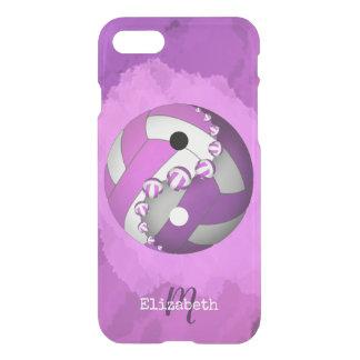 Coque iPhone 7 le yin décoré d'un monogramme des femmes roses et