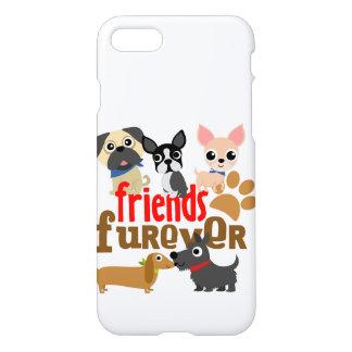 Coque iPhone 7 Les amis Furever poursuit des chiots