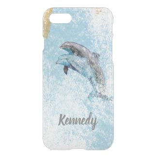 Coque iPhone 7 Les dauphins sautant dans l'art de l'eau