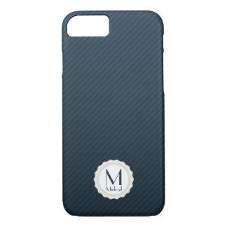 Coque iPhone 7 Les filets de bleu marine ont personnalisé le