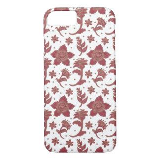 Coque iPhone 7 Les fleurs de batik de Bourgogne