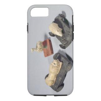 Coque iPhone 7 Les jouets des enfants : un hérisson, un lion et