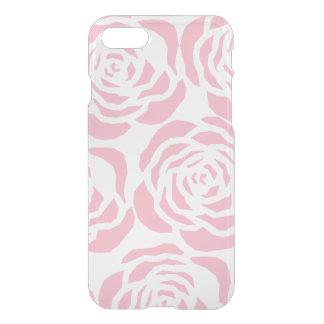 Coque iPhone 7 Les roses roses Girly dégagent la caisse de