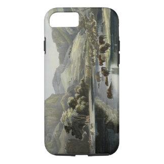 Coque iPhone 7 Les troupeaux de bison et d'élans sur le stimulant