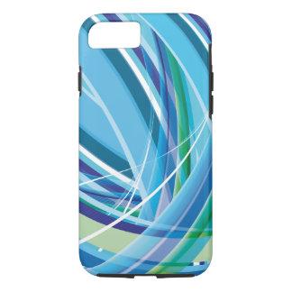 Coque iPhone 7 Lignes colorées bleues arrière - plan