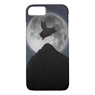 Coque iPhone 7 Lune de passé de vol de porc pleine