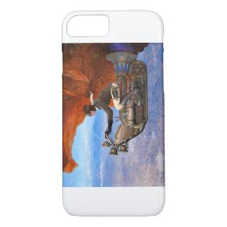Coque iPhone 7 Machine de vol de Steampunk