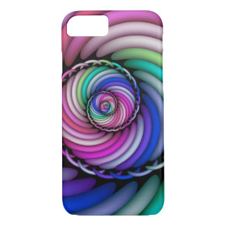 Coque iPhone 7 Magasin en spirale de sucrerie de fractale
