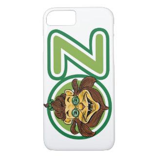 Coque iPhone 7 Magicien d'Oz vintage, lion dans la lettre O
