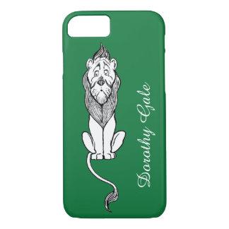 Coque iPhone 7 Magicien d'Oz vintage, lion lâche