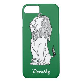 Coque iPhone 7 Magicien d'Oz vintage, lion lâche courageux