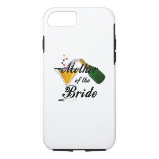 Coque iPhone 7 Mère du pain grillé de Champagne de jeune mariée