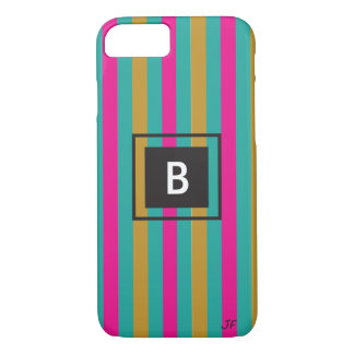 Coque iPhone 7 Monogramme de rayures