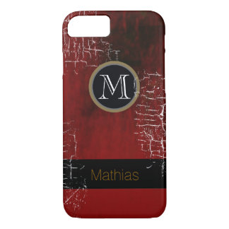 Coque iPhone 7 monogramme masculin