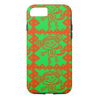 Coque iPhone 7 Motif animal vert orange de singe mignon