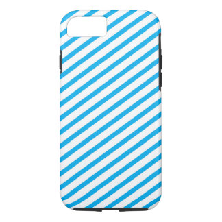 Coque iPhone 7 Motif bleu de rayure diagonale
