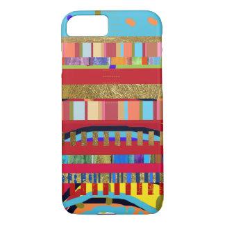Coque iPhone 7 motif coloré de rayures
