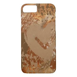 Coque iPhone 7 Motif d'abrégé sur coeur de chocolat