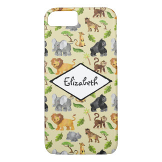 Coque iPhone 7 Motif de jungle de safari d'animal sauvage