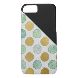 Coque iPhone 7 Motif de point de polka de parties scintillantes