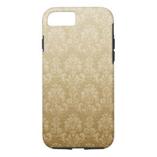 Coque iPhone 7 Motif d'or de damassé