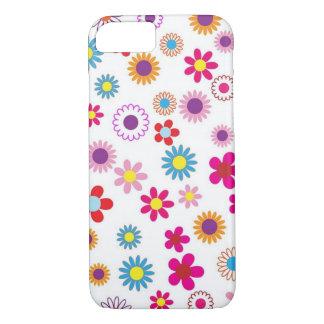 Coque iPhone 7 Motif floral avec l'arrière - plan blanc