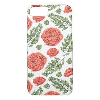 Coque iPhone 7 Motif floral illustré de roses