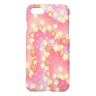 Coque iPhone 7 Motif floral rose et jaune chic