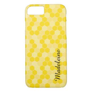 Coque iPhone 7 Motif jaune de nid d'abeilles