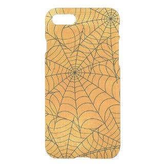 Coque iPhone 7 Motif jaune drôle de toiles d'araignée