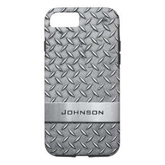 Coque iPhone 7 Motif métallique de plat coupé par diamant de la