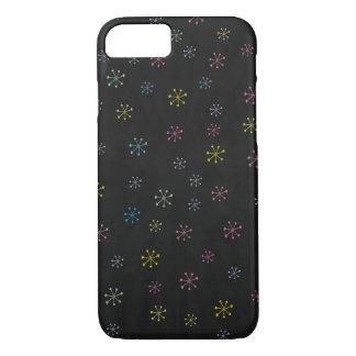 Coque iPhone 7 Motif noir mignon de griffonnage de fleur