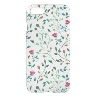 Coque iPhone 7 Motif rose de floraison d'aquarelle