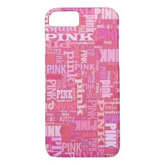 Coque iPhone 7 Motif rose foncé des textes pour les amants roses